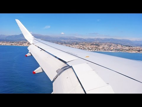 British Airways A320 Approach and Landing at Nice Côte d'Azur Airport