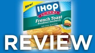 IHOP Maple Sausage, Egg  Cheese French Toast Breakfast Sandwich Video Review: Freezerburns (Ep532)