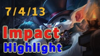 Highlight C9 Impact Gnar TOP vs Rumble Patch 7.3