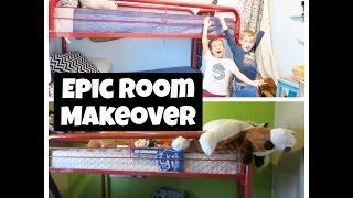 EPIC ROOM MAKEOVER under $100 / HOW TO