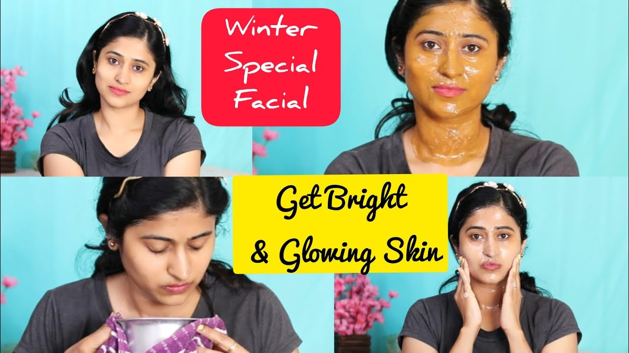 Winter के लिए  Facial For Instant Bright and Glowing Skin | Get Rid of Dull and Dry skin in winter