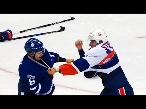 Strome doesn't take kindly to Carrick's hip check