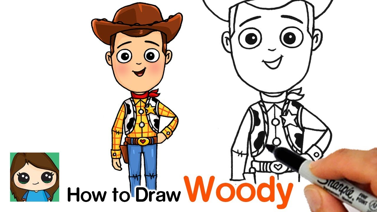 How To Draw Sheriff Woody Toy Story Youtube