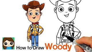 How to Draw Sheriff Woody | Toy Story