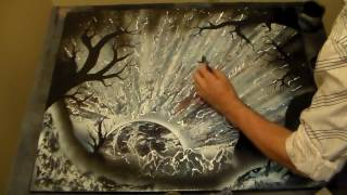 Over One Hour Time Laspe Spray Paint Art Compilation with Music-The Directors Cut