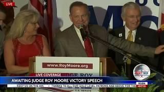 JUDGE Roy Moore FULL Victory Speech After Winning AL Senate Runoff Election 9/26/17