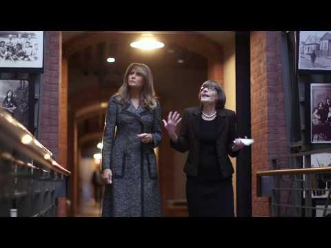First Lady Melania Trump Visits United States Holocaust Memorial Museum