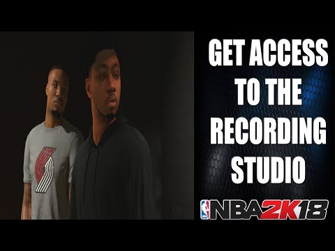 NBA 2k18 - How To Get Access To The Recording Studio