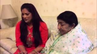 Lata Mangeshkar Ji unveiling Richa Sharma new song Ranglee ..