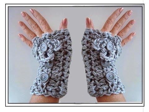 Crochet Texting Gloves Fingerless Gloves How To Diy Youtube