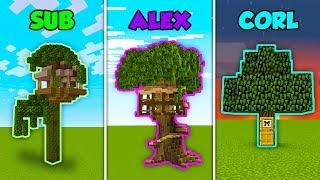 Baixar SUB vs ALEX vs CORL - TREEHOUSE in Minecraft!
