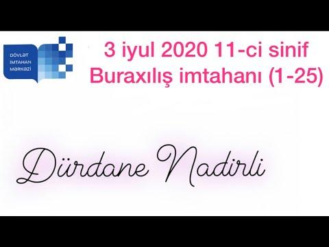 3 iyul -INGILIS DILI -Buraxilis imtahani -11ci sinif