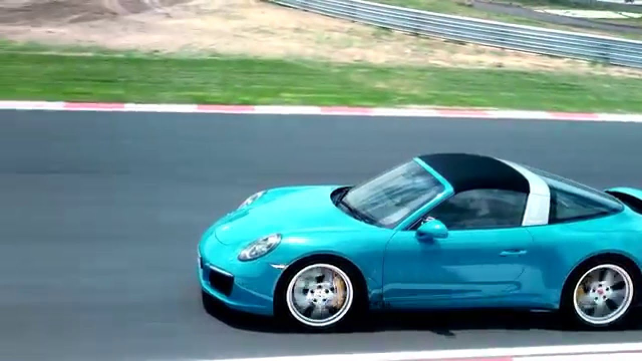 Porsche 911 Targa 4s Miami Blue Driving Video