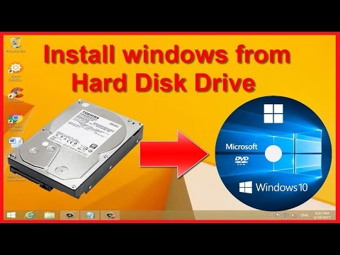 Install Windows XP, 7, 8.1, 10 From Hard Drive | NO DVD Or USB Needed!