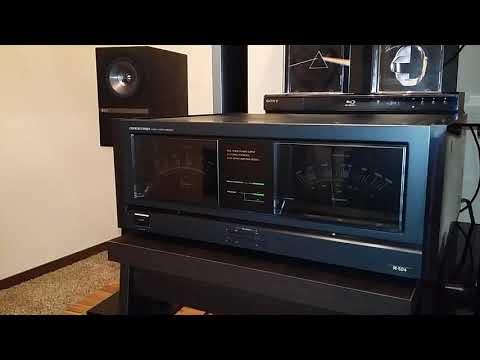 Onkyo Integra M-504 (Hulk!) Music review of the 50 pound Beast  Making those KEF Q=100sDanceat10watt