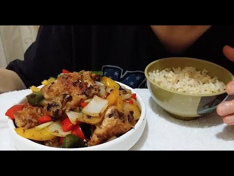 Stir-fry Chicken With Black Bean & Garlic | 豆豉雞 : ASMR / Mukbang ( Cooking & Eating Sounds )