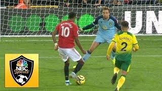 Marcus Rashford doubles Manchester United's lead against Norwich City | Premier League | NBC Sports