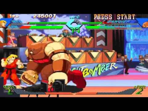 Download xmen vs street fighter ryu ken versus zangief juggernaut