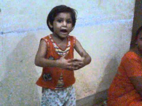 A baby performing Gujarati nursery rhymes3gp