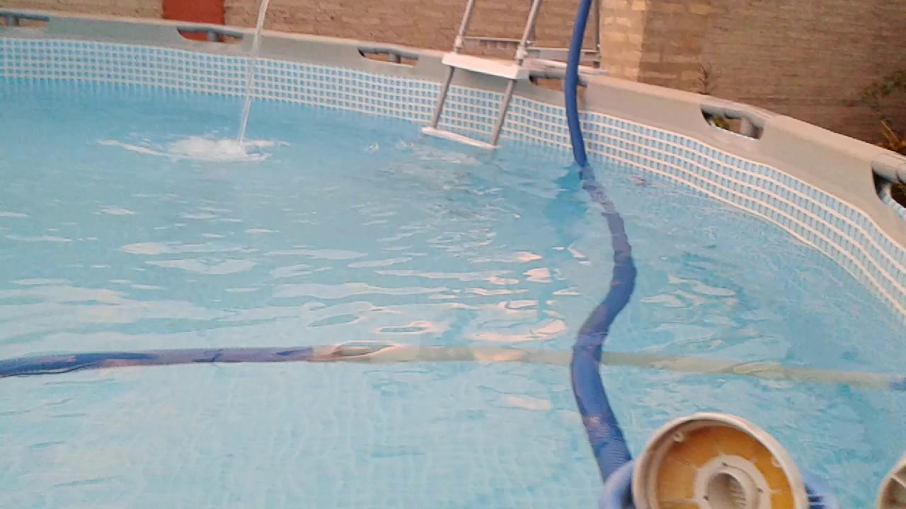 cascada para piscina intex