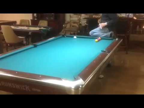 Elegant Billiards Trick Shot On Brunswick Pool Table Greensboro, NC