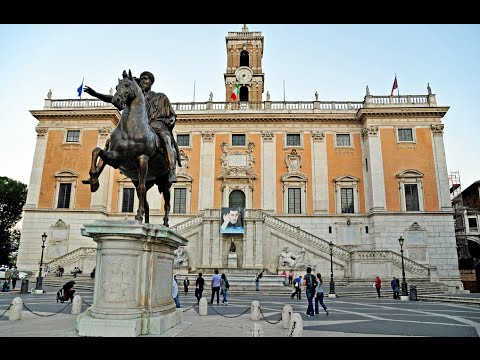 Visiting Capitoline Hill, Historical Place in Piazza del Campidoglio, Roma, Italy