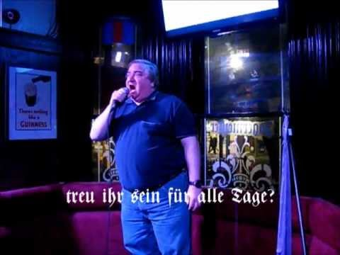 """Du Hast"" sung at karaoke by Pierre"