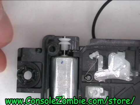 Wii Optical Drive Disc Insertion Ejection Motor Replacement Tutorial - ConsoleZombie.com