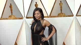 Taraji P Hensonon the Red Carpet for the 90th Annual Academy Awards
