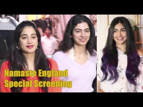 Janhvi Kapoor with Sister Khushi Kapoor @ Namaste England Screening   Adah Sharma