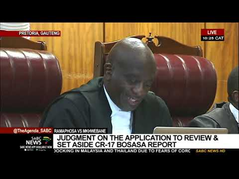 Ramaphosa vs Public Protector | Court delivers judgment