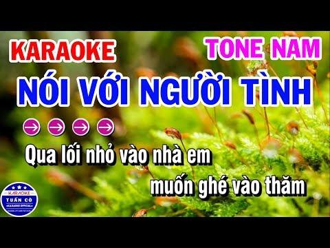 Karaoke Nói Với Người Tình | Nhạc Sống Beat Nam Dễ Hát | Karaoke Tuấn Cò