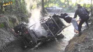 Nissan Patrol tipped over