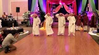 Funny Mehndi Dance - Desi vs. Arab skit! Pakistani wedding Hammad + Mehar, Part 1/3