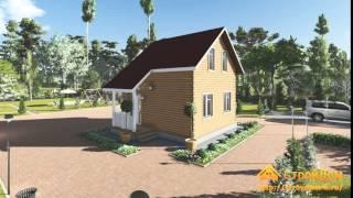 Проект дома из бруса 6х7,5 с мансардой(, 2015-12-22T14:34:06.000Z)