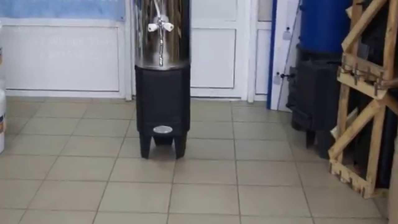 Печь отопления из титана - YouTube