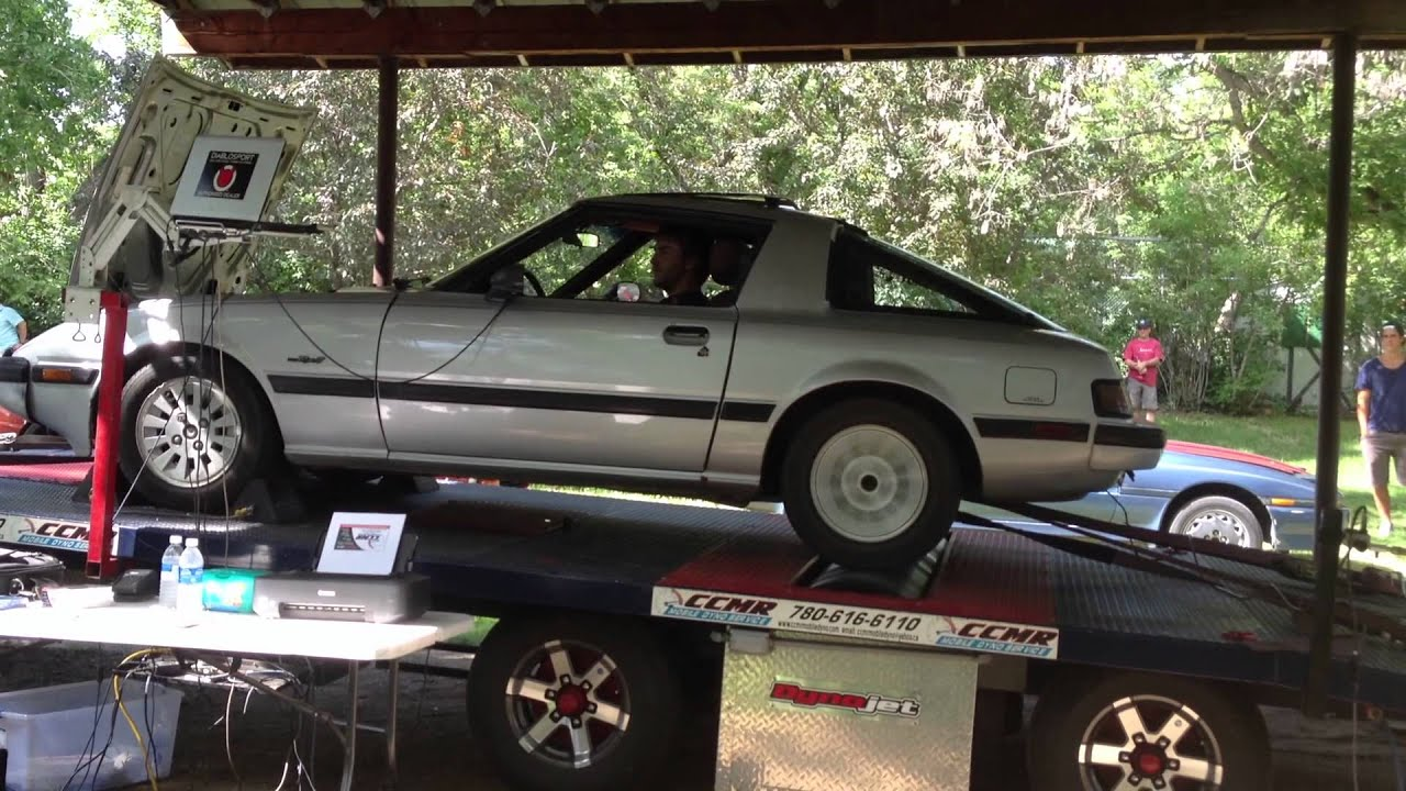 1984 Mazda RX7 Dyno run 22  YouTube