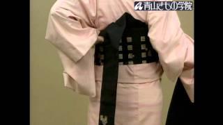 お太鼓の結び方(1) 着物の着方と帯結び入門(13/21)|青山きもの学院 thumbnail