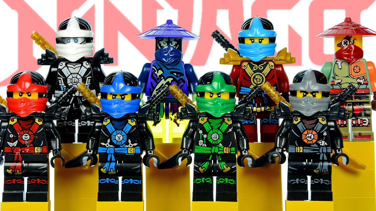 lego ninjago in deepstone robes knockoff minifigures set 20 review w kai lloyd cole jay youtube