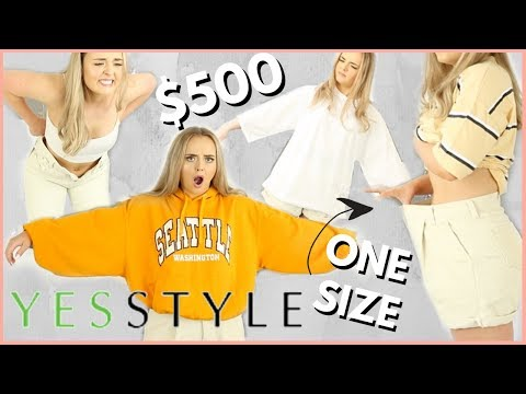 $500 YESSTYLE CLOTHING HAUL | ONE SIZE ONLY?!? | WTF | Conagh Kathleen