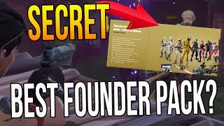 "SECRET ULTIMATE EDITION PACK! ""WHAT IS THE BEST FOUNDER PACK?"" (Fortnite Gameplay)"