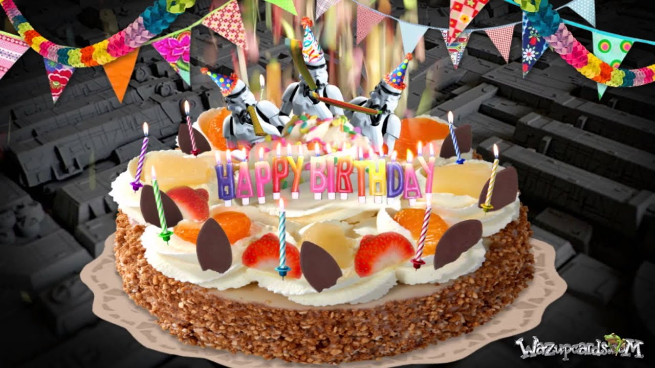 Happy Birthday Stormtrooper Cake Youtube