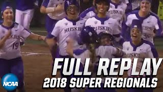 Washington vs. Alabama: 2018 NCAA softball super regionals   FULL REPLAY
