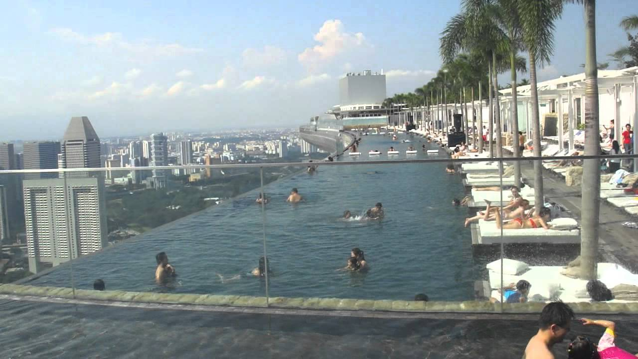 Marina Bay Sands Skypark Infinity Pool Singapore Youtube