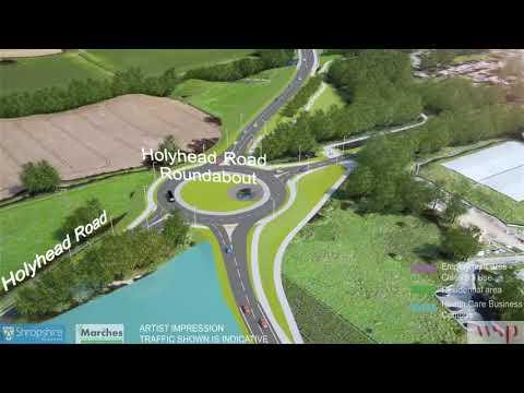 Shropshire Council - Shrewsbury North West Relief Road Flythrough 2017