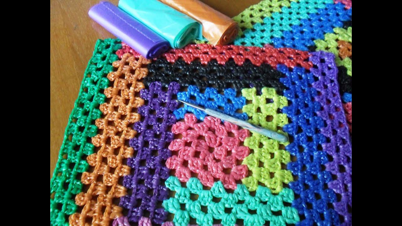 Вязание из пластиковых пакетов 61