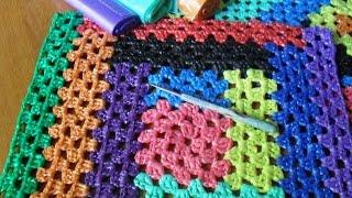 Вязание из полиэтиленовых пакетов . Чехлы на табуретки.  Ч. 3
