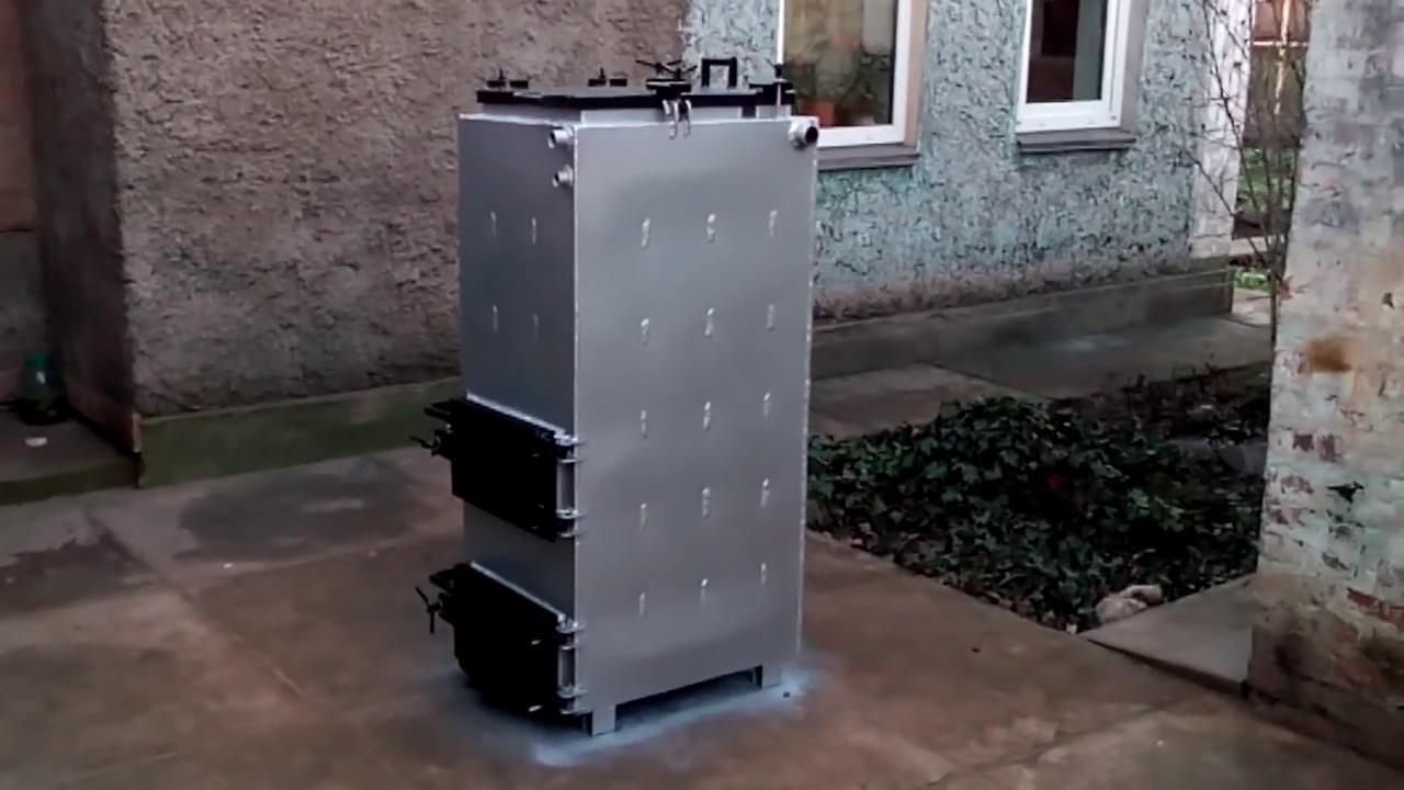 Шахтный котел 15 кВт модель 2018