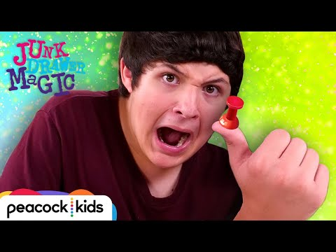 Thumb Tack Through Your Thumb Trick | JUNK DRAWER MAGIC