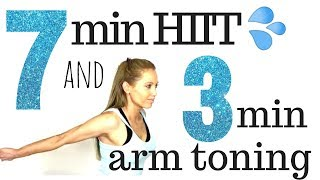 7 Minute HIIT Home Full Body Workout the Arm Exercises for Women Routine - Real Time Workout Video
